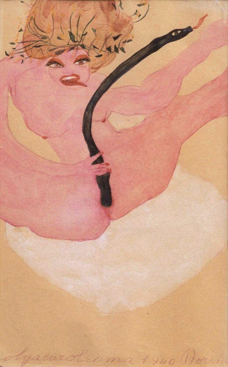 Carol Rama, Dorina, 1940. Photo by Pino dell'Aquila. Courtesy of New Museum.