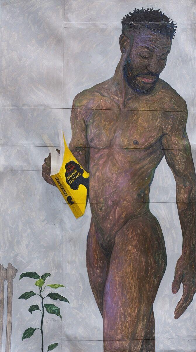 Amoako Boafo, Homegoing, 2018. Courtesy of the artist.