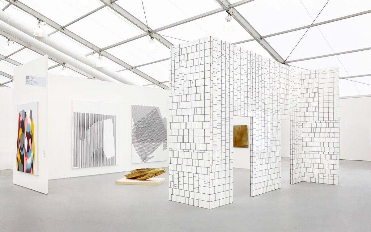 Installation view of DITTRICH & SCHLECHTRIEM's booth at UNTITLED, Miami Beach, 2016. Photo courtesy of the gallery.