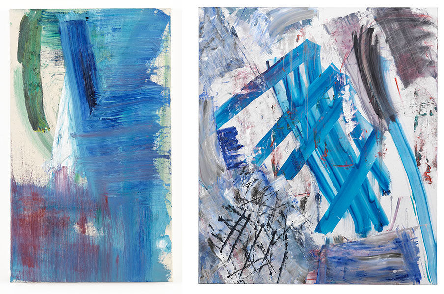 Louise Fishman, THE DAY IN ITS COLOR (2013) and ROOKERY (2014). Images courtesy of Cheim & Read, New York.
