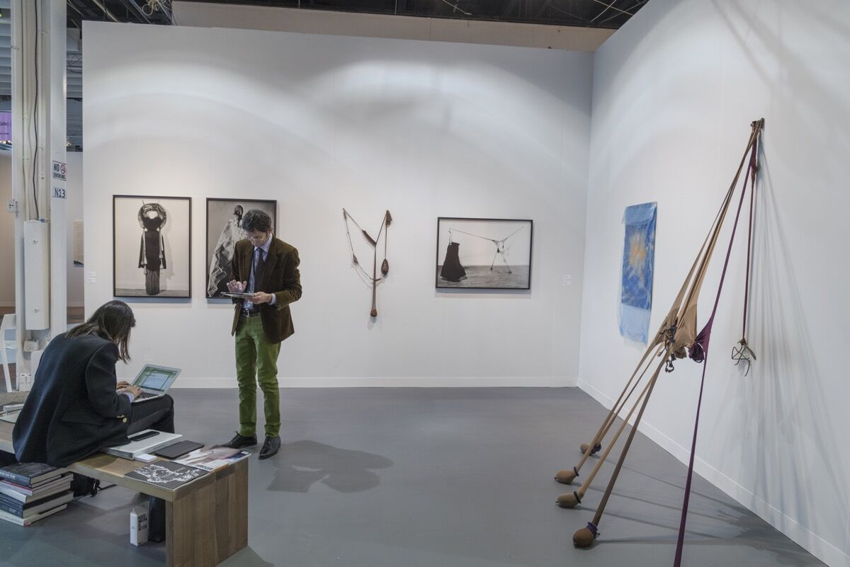 Installation view of Thomas Erben Gallery and Lévy Gorvy's booth at The Armory Show, 2017. Photo by Adam Reich for Artsy.