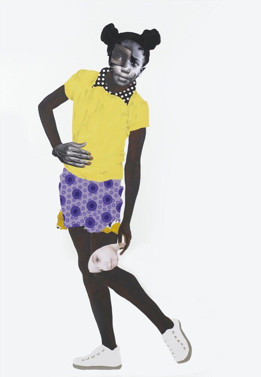 Deborah Roberts, The burden, 2019. © Deborah Roberts. Courtesy of the artist and Stephen Friedman Gallery, London.