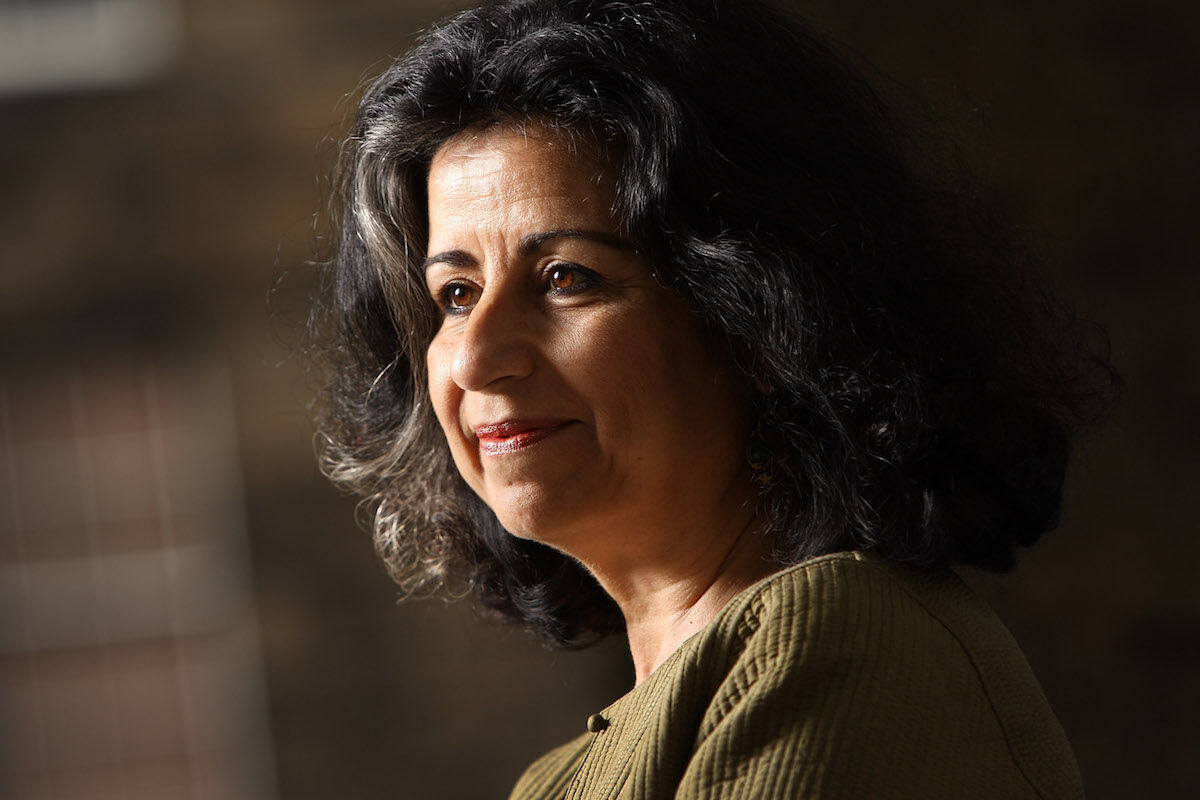 Egyptian author and former British Museum trustee Ahdaf Soueif. Photo by Jeremy Sutton-Hibbert/Getty Images.