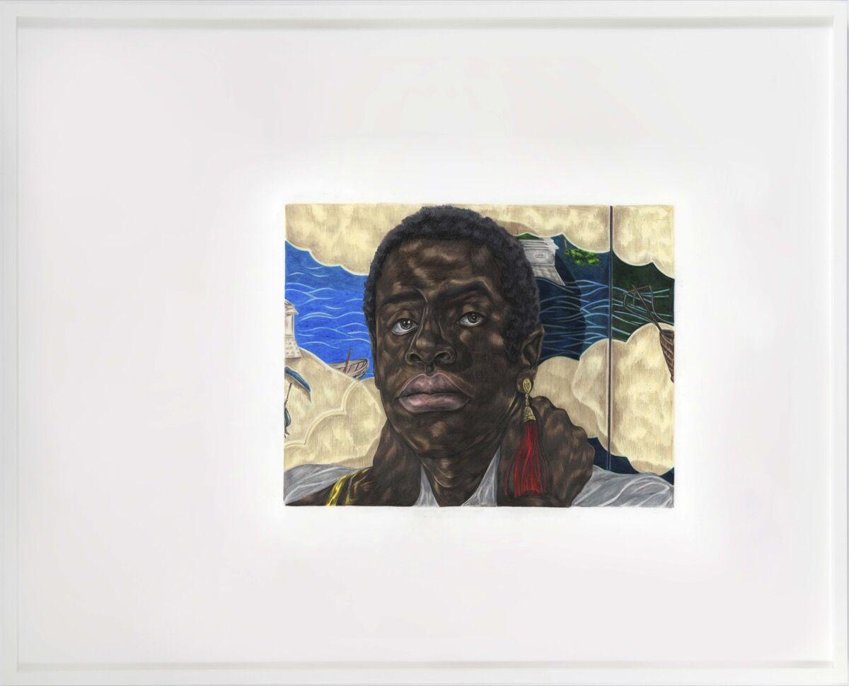 Toyin Ojih Odutola, Nanban, 2020. © Toyin Ojih Odutola. Courtesy of the artist and Jack Shainman Gallery, New York.