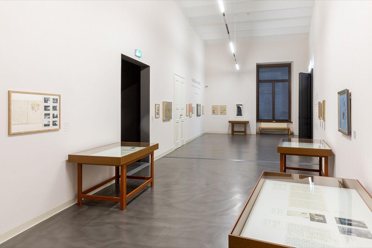 """Exhibition view of """"Gerd Richter 1961/62"""" at Staatliche Kunstsammlungen Dresden, 2020. © Staatliche Kunstsammlungen Dresden. Photo by David Pinzer. Courtesy of Staatliche Kunstsammlungen Dresden."""