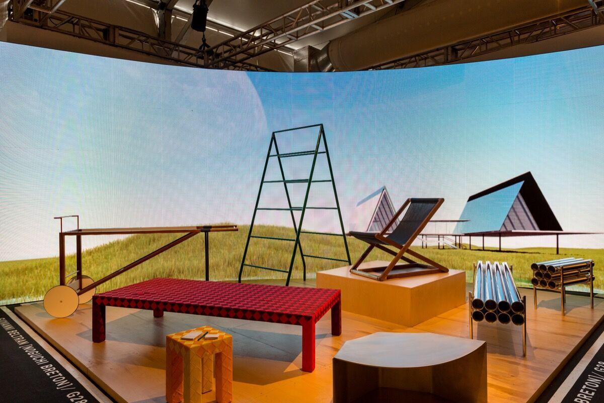 Installation view of Giovanni Beltran's booth at Design Miami/, 2016. Photo by Alain Almiñana for Artsy.