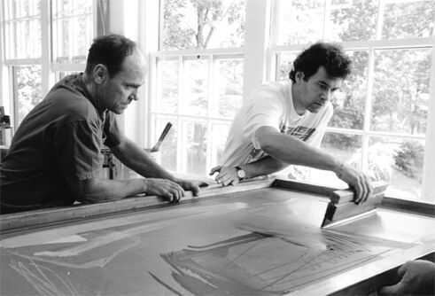 Michael Heizer and Jean-Paul Russell. Photo by Ray Charles White