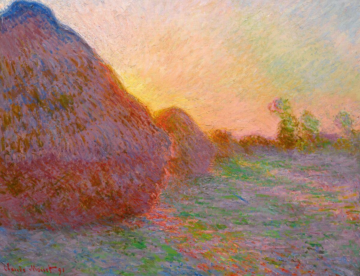 Claude Monet, Meules, 1890/91. Courtesy of Sotheby's.