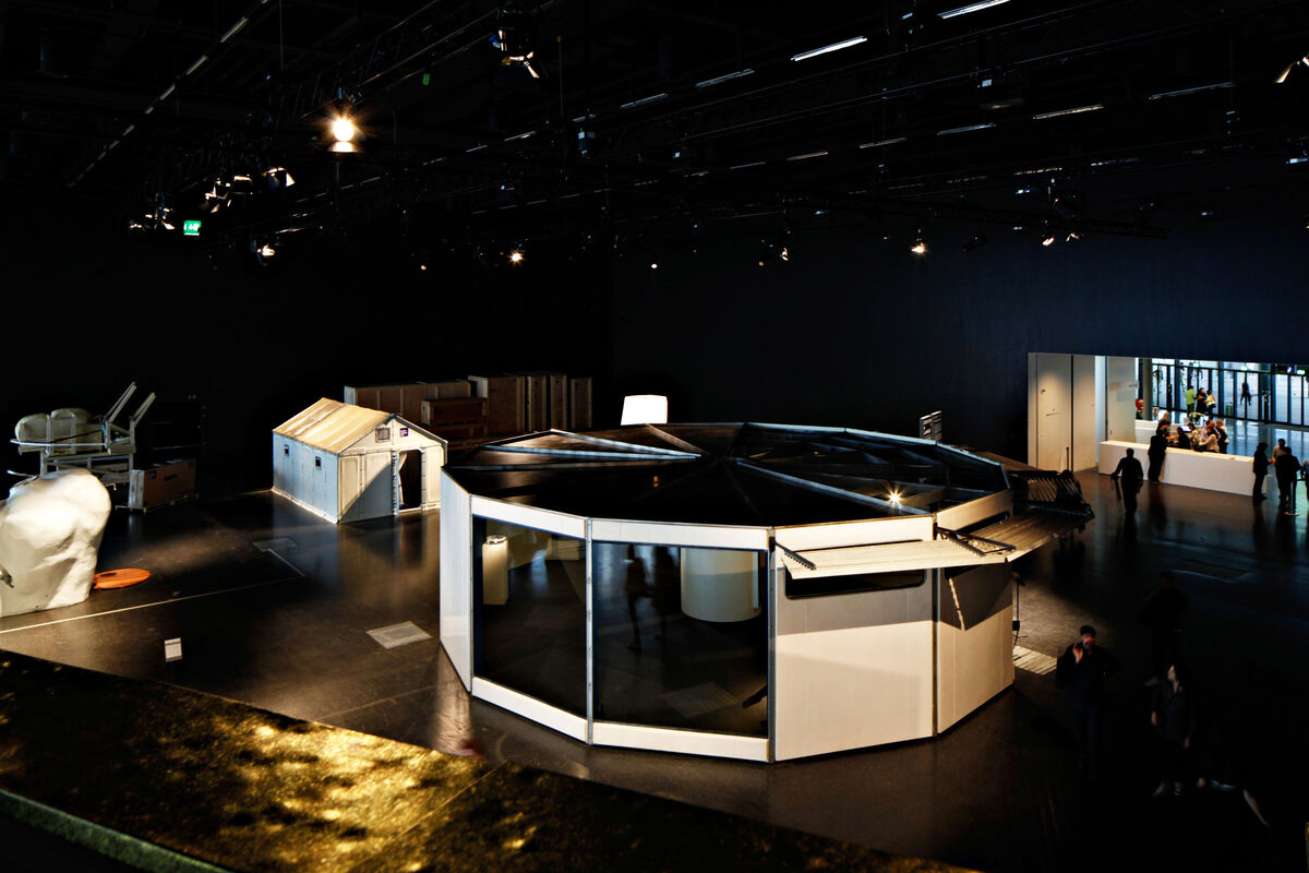 Jean Prouvé,Filling Station, 1969at Design Miami/ Basel 2015. Photo by Alec Bastian for Artsy