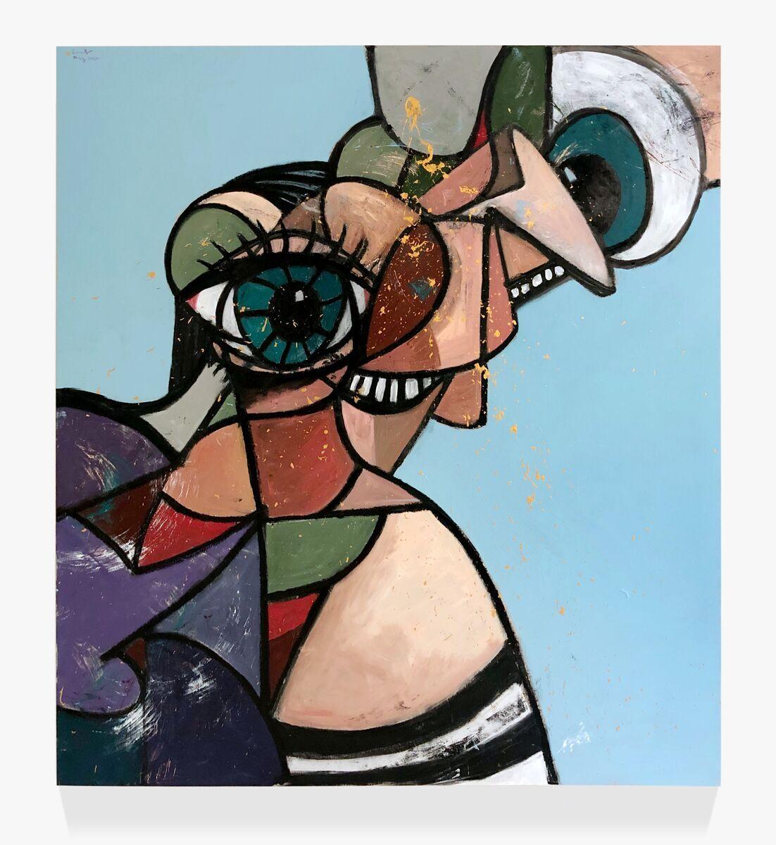 George Condo, Diagonal Evolution, 2020. © George Condo. Courtesy of the artist and Hauser & Wirth.