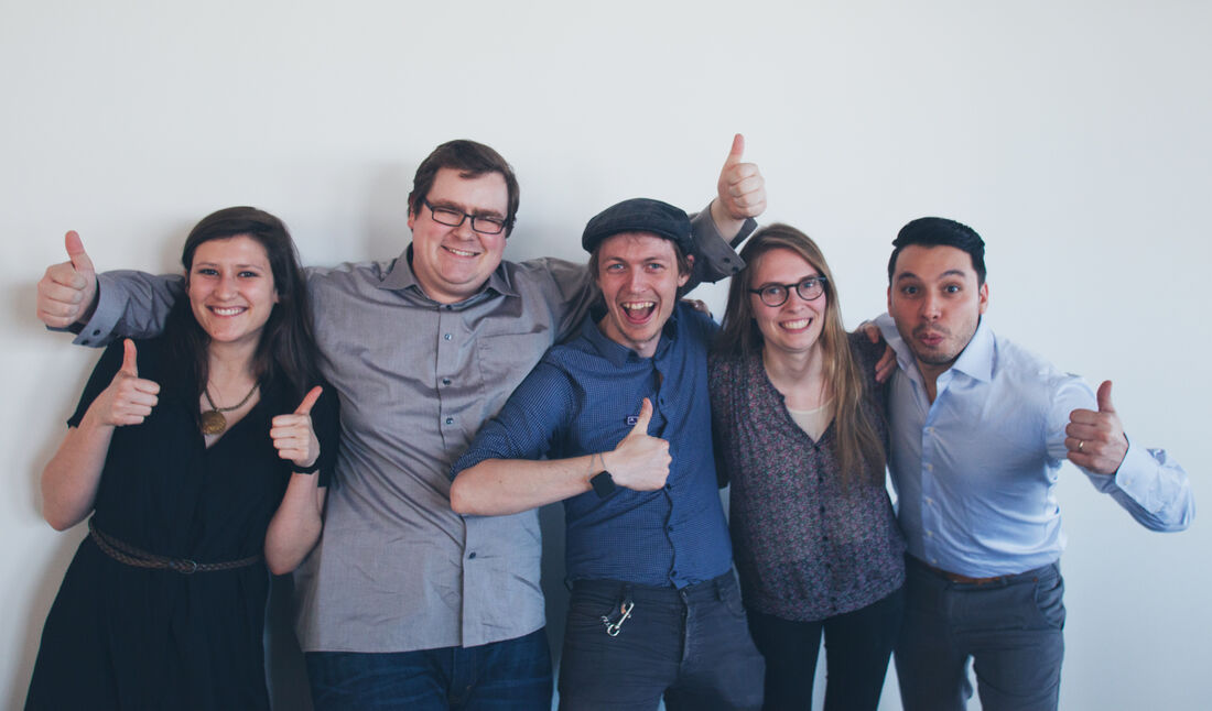 5 people, sure. But one of these people is on the web team, can you guess who?
