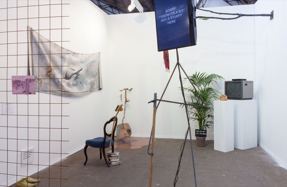 Installation view of Nathalie Obadia's booth at Art Brussels 2017.