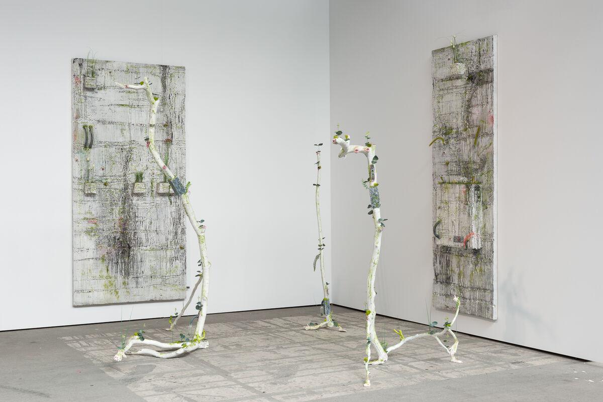 Installation view of Veit Laurent Kurz's work at Johan Berggren's booth, Art Berlin Contemporary, 2015. Courtesy the gallery.