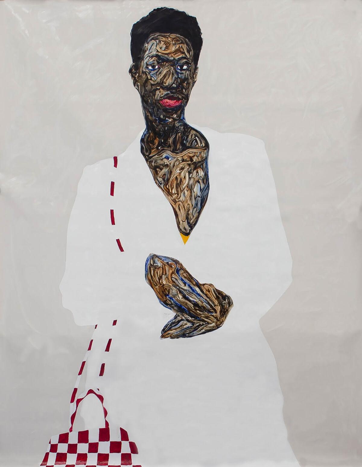 Amoako Boafo, Nerida Cocamaro, 2019. Courtesy of the artist and Mariane Ibrahim.