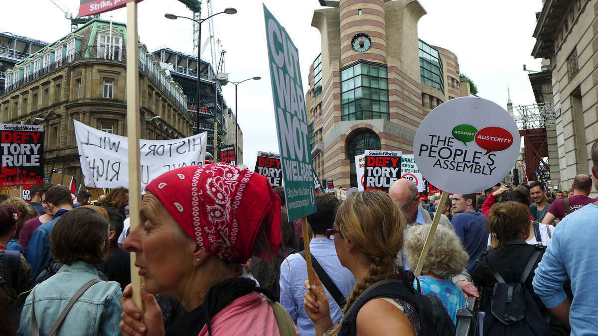 Anti-austerity marches, U.K., June 2015. Courtesy Paul de Gregorio/Flickr/Creative Commons.