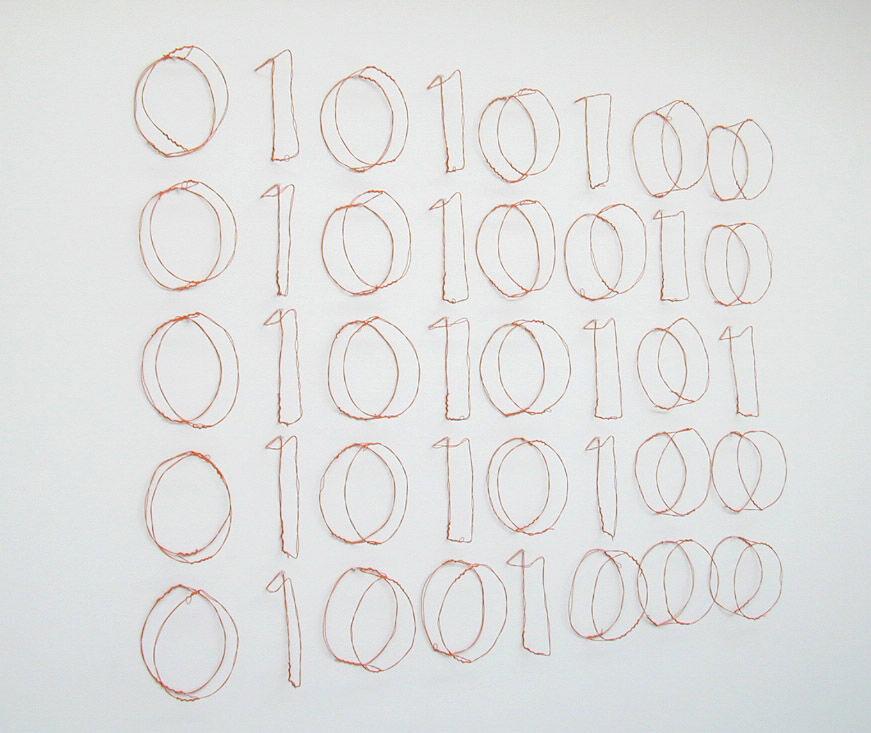 Jonathan Borofsky, Truth (binary computer code), 1995. © Jonathan Borofsky. Courtesy of Paula Cooper Gallery, New York.