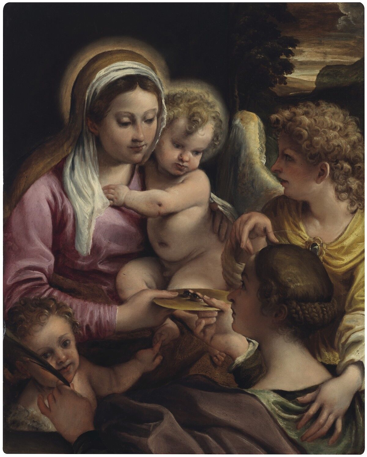 Annibale Carracci, Virgin Child with Saint Lucy and the Young Saint John the Baptist. Est. around $4 million. Courtesy Christie's.