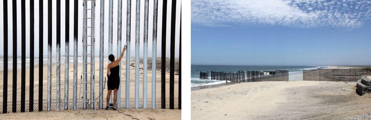 Ana Teresa Fernandez,Erasing the Border (Borrando la Frontera), 2012.Courtesy of the artist and Gallery Wendi Norris, San Francisco.