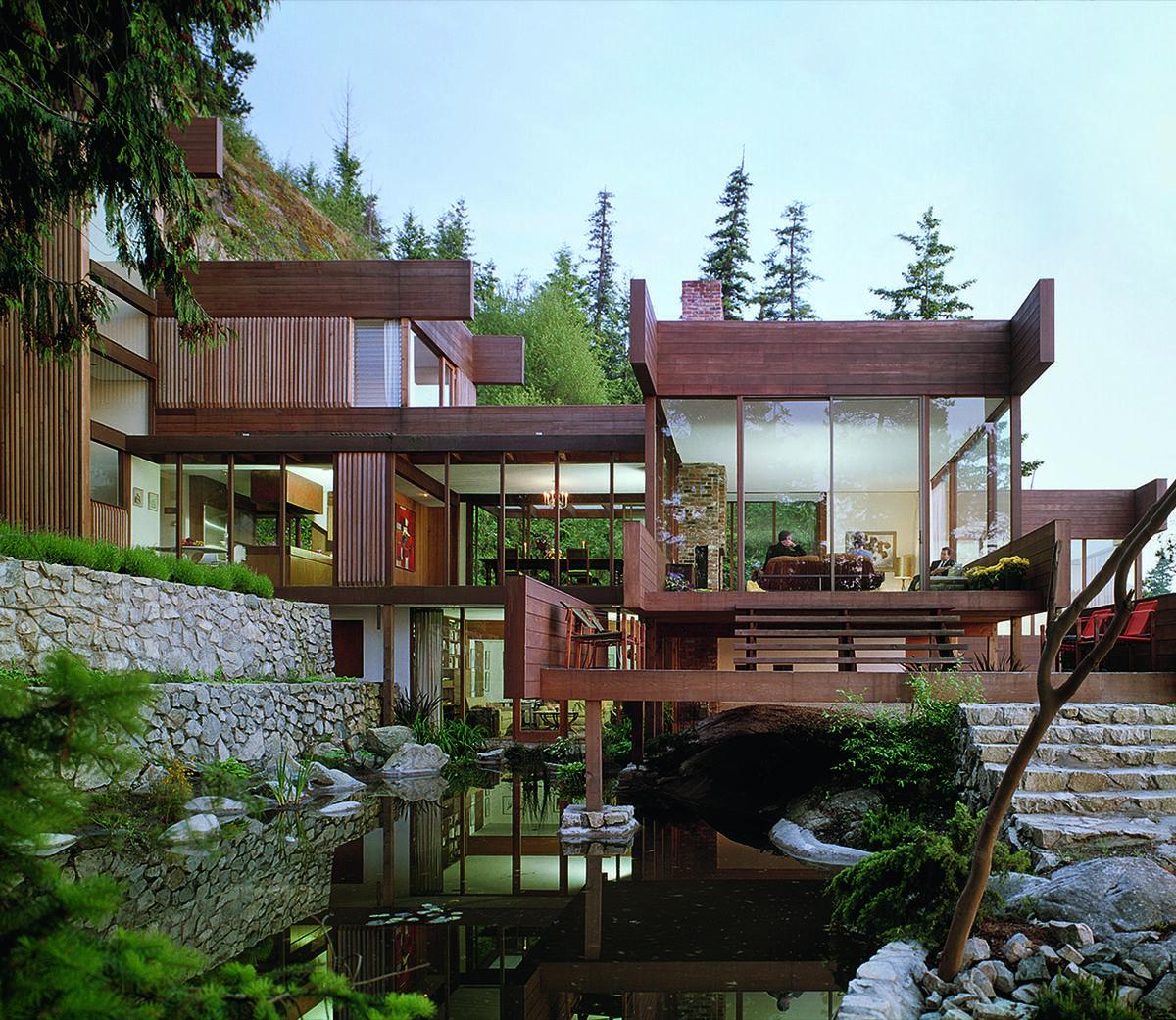 Arthur Erickson, Graham House, 1962, West Vancouver, British Columbia, Canada. Photo by Ezra Stoller/Esto. Courtesy of F2 Architecture and Phaidon.