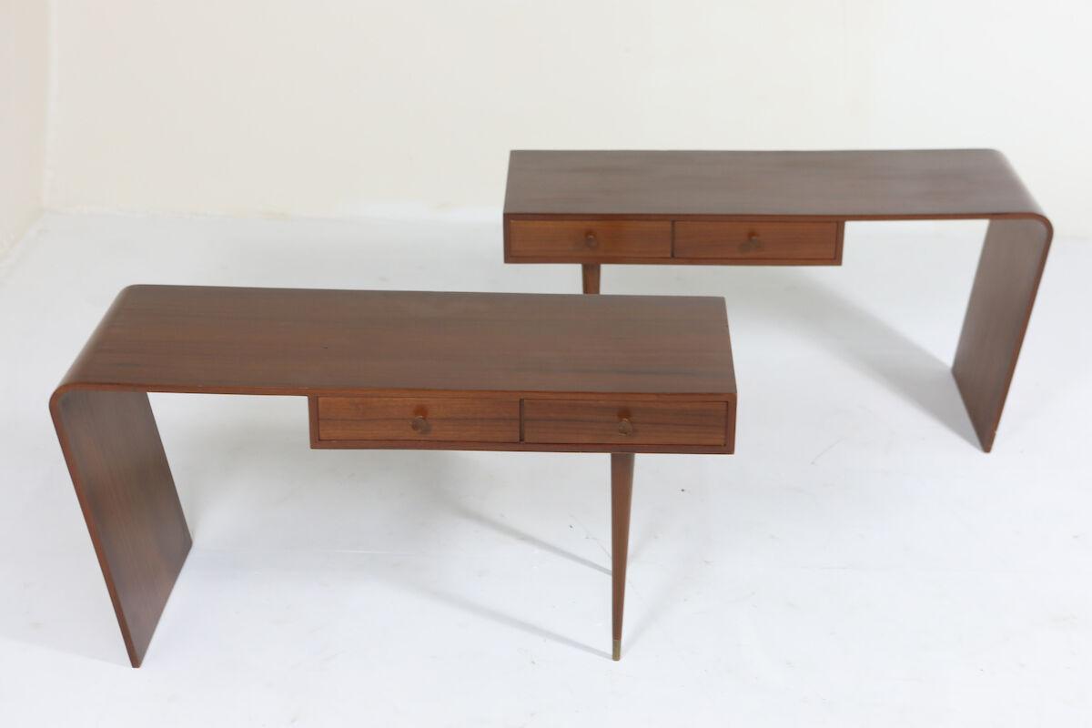 Side tables by Joaquim Tenreiro 1950s at Mercado Moderno.