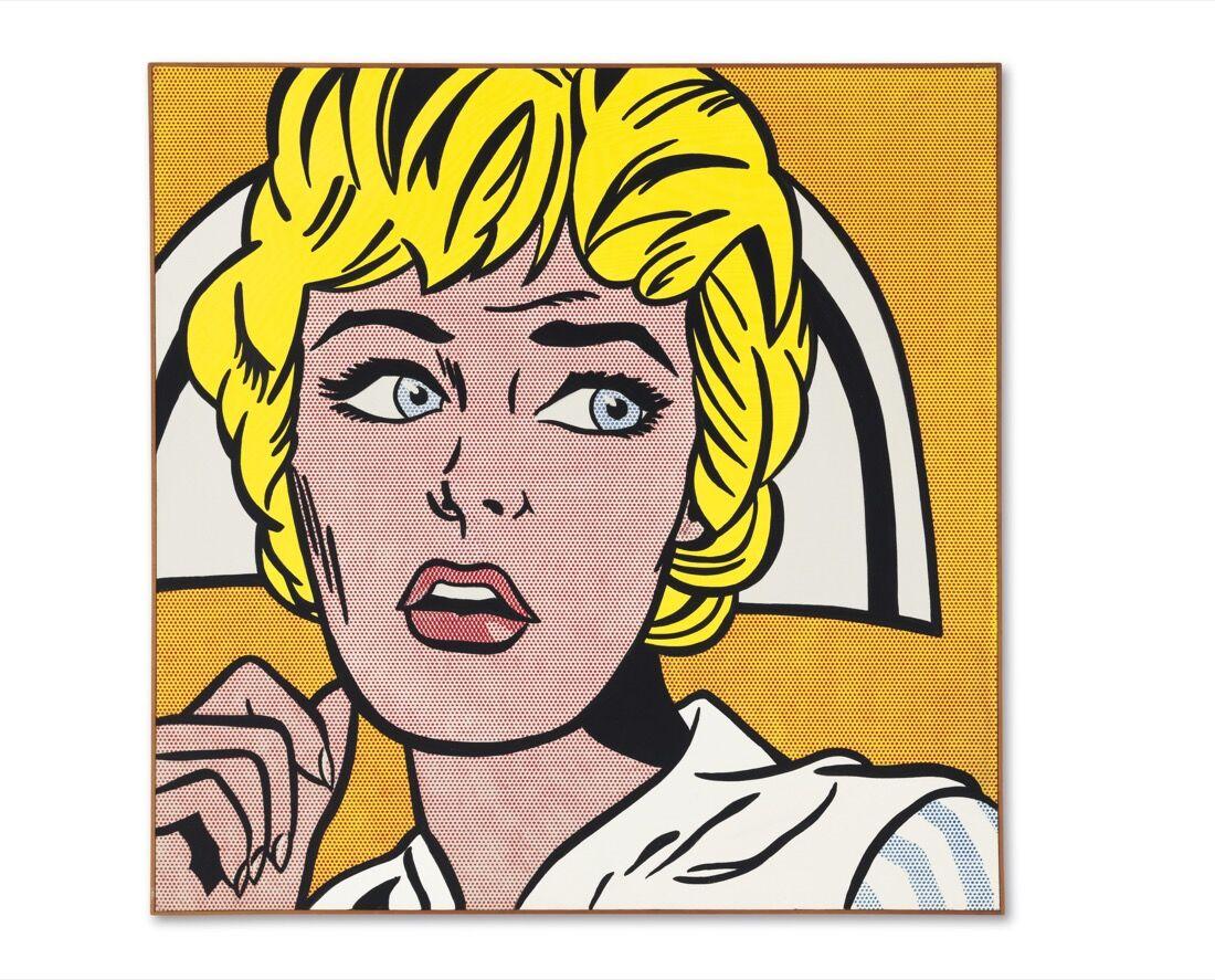 Roy Lichtenstein, Nurse, 1964. Price Realized: $95,365,000.Courtesy of Christie's Images ltd. 2015.