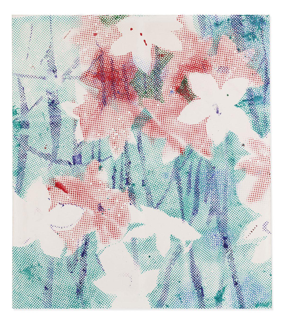 Sigmar Polke, Alpenveilchen/Flowers, 1967. Est. £5 million–£7 million ($6.2 million–$8.7 million). Courtesy Christie's.