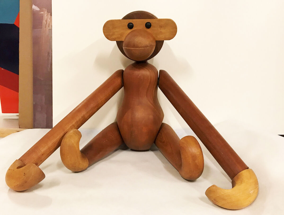 The monkey toy by Kay Bojesen. Photo courtesy the Trapholt Art Museum.