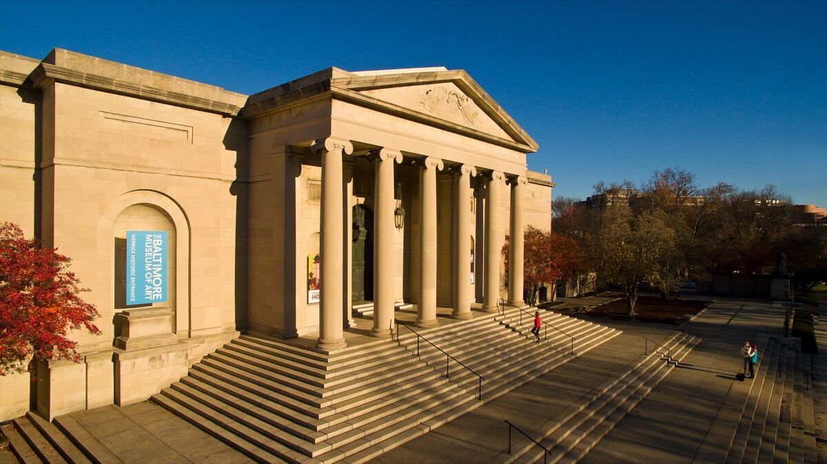 Exterior view of The Baltimore Museum of Art. Photo by Stephen Spartana. Courtesy of The Baltimore Museum of Art.