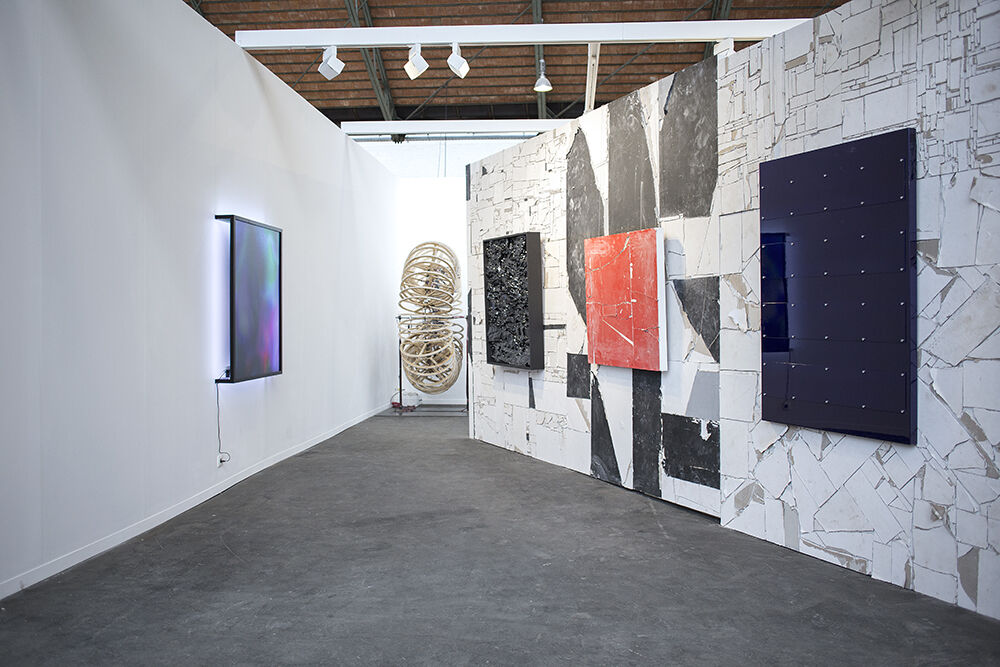 Installation view of Steve Turner's booth at Art Brussels 2017.