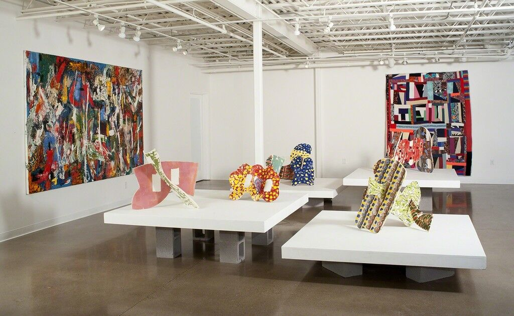 "Installation view of ""Coloring Outside the Lines,"" courtesy of 333 Montezuma Arts"