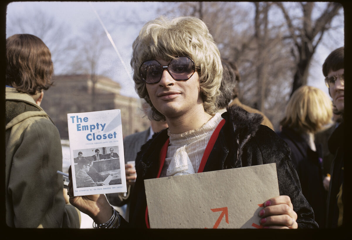 Diana Davies,  Gay rights demonstration, Albany, New York , 1971. Courtesy of New York Public Library, Manuscripts and Archives Division.