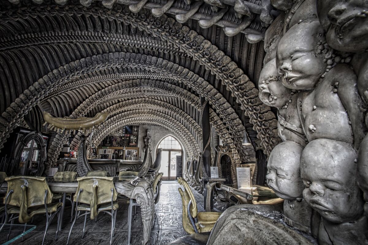 Giger Bar. Photo by Andy Davies. Courtesy of the H.R. Giger Museum.