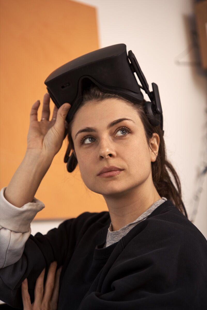 Portrait of Rachel Rossin in her Brooklyn studio by Alex John Beck for Artsy.