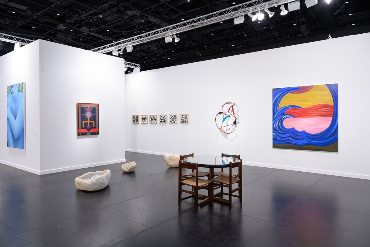 Installation view of Mendes Wood DM's booth at Frieze New York, 2021. Courtesy of Mendes Wood DM, São Paulo/Brussels/New York.