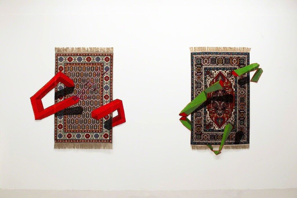 "Installation view of""Faig Ahmed – Omnia Mutantur, Nihil Interit""at Montoro12 Contemporary Art, Rome. CourtesyMontoro12 Contemporary Art and the artist."