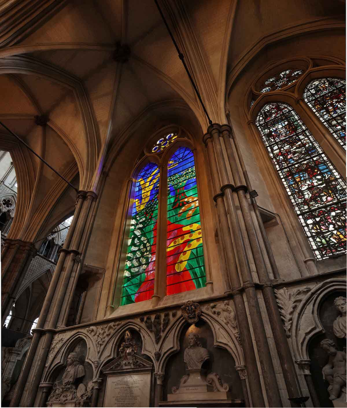 The Queen's Window at Westminster Abbey. Photo by Alan Williams.