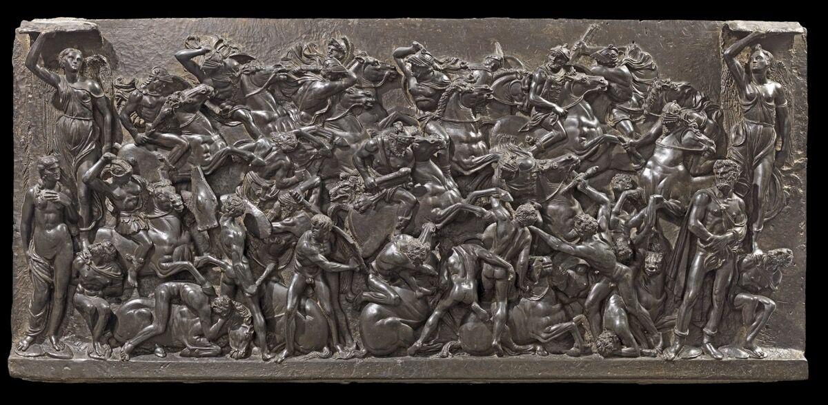Bertoldo di Giovanni, Battle, ca. 1480–85. Photo by Mauro Magliani. Courtesy of the Frick Collection, New York.