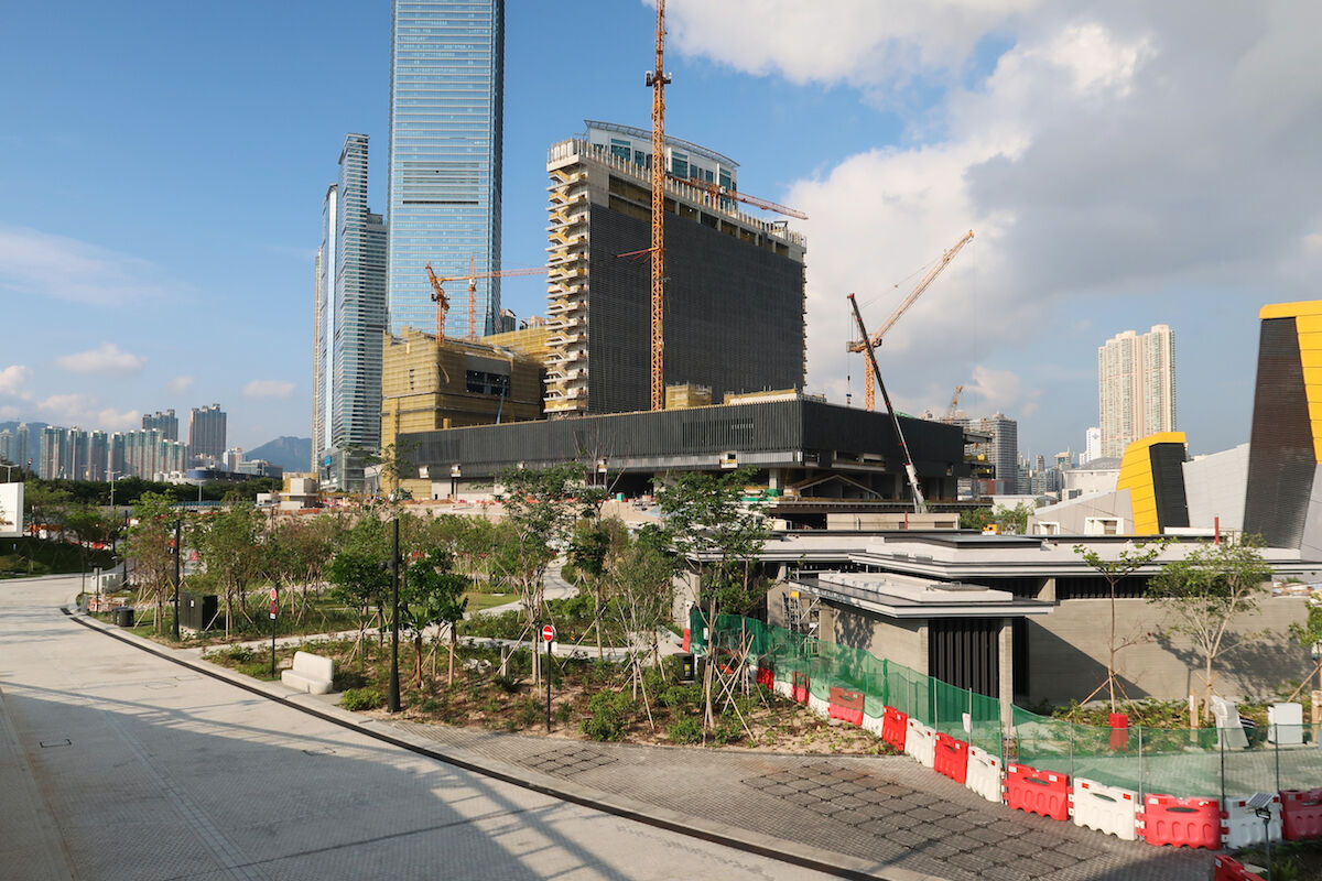The M+ construction site in April 2019. Photo by Wpcpey, via Wikimedia Commons.