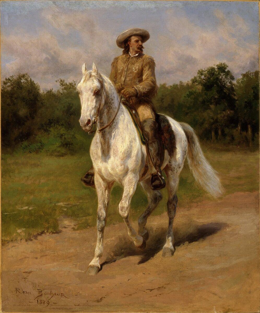 Rosa Bonheur, Col. William F. Cody (Buffalo Bill), 1889. Image via Wikimedia Commons.