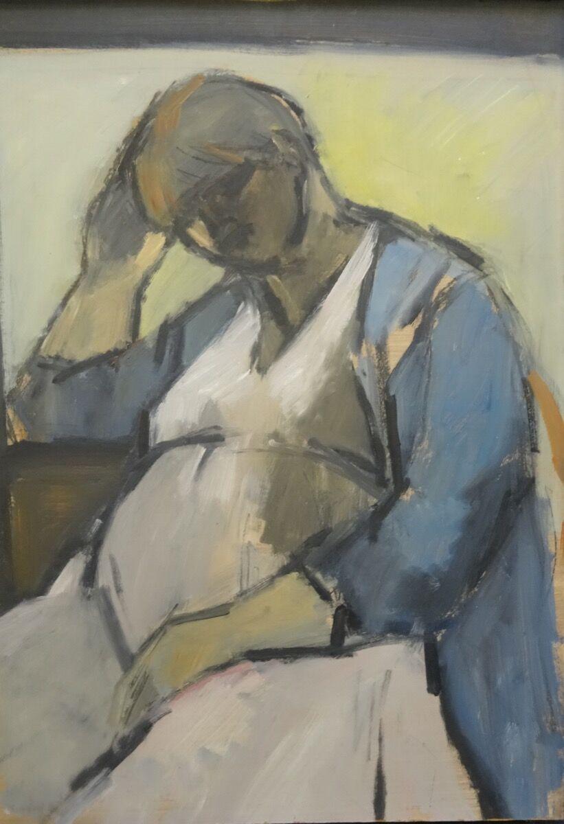Ghislaine Howard, Self Portrait Pregnant, 1984. © Ghislaine Howard.