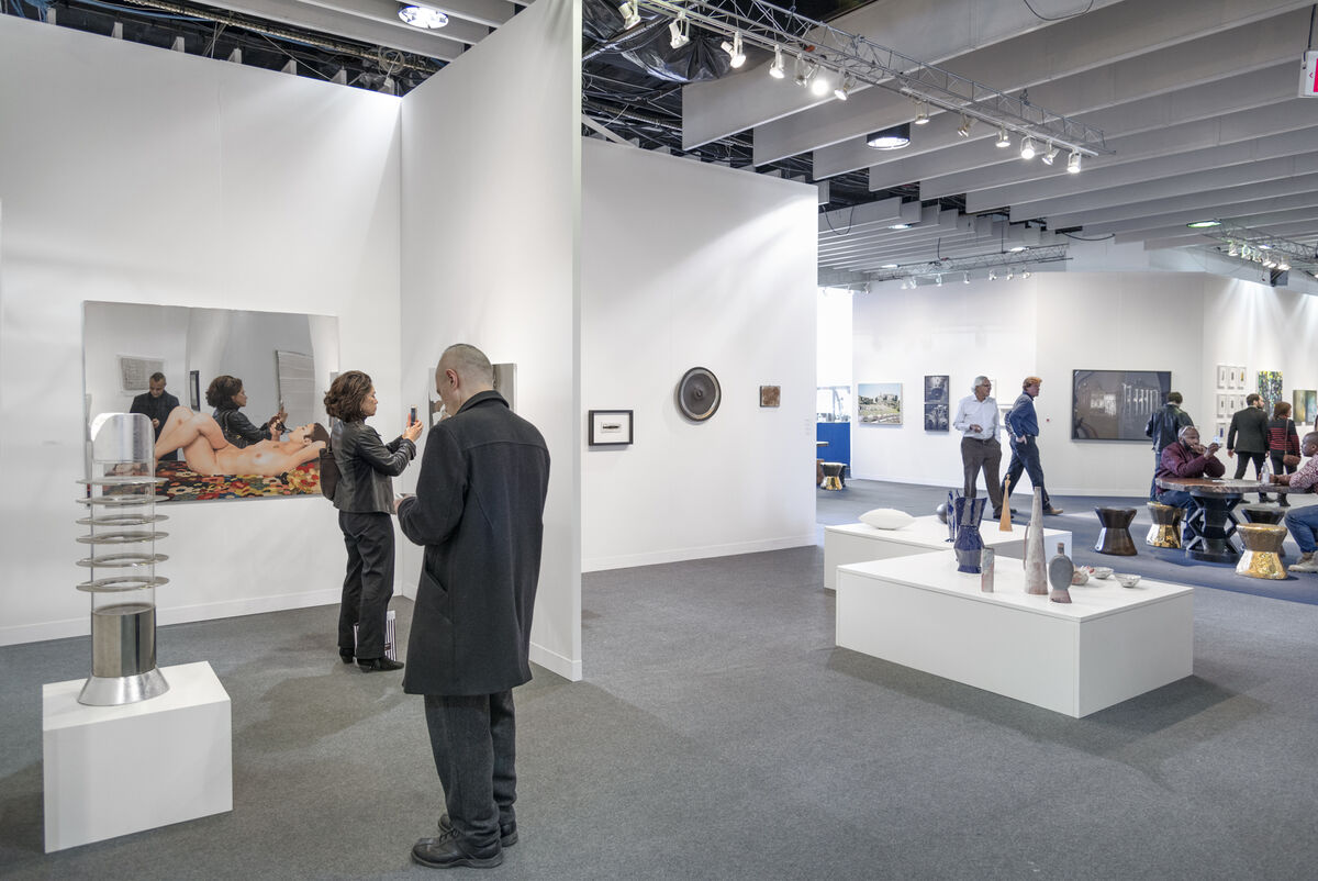 Installation view of Beck & Eggeling's booth at The Armory Show, 2016. Photo by Adam Reich for Artsy.