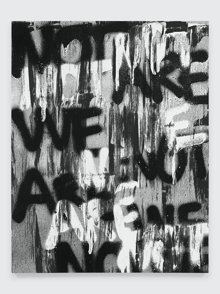 Adam Pendleton, Untitled (WE ARE NOT), 2019. © Adam Pendleton. Courtesy of Pace Gallery.