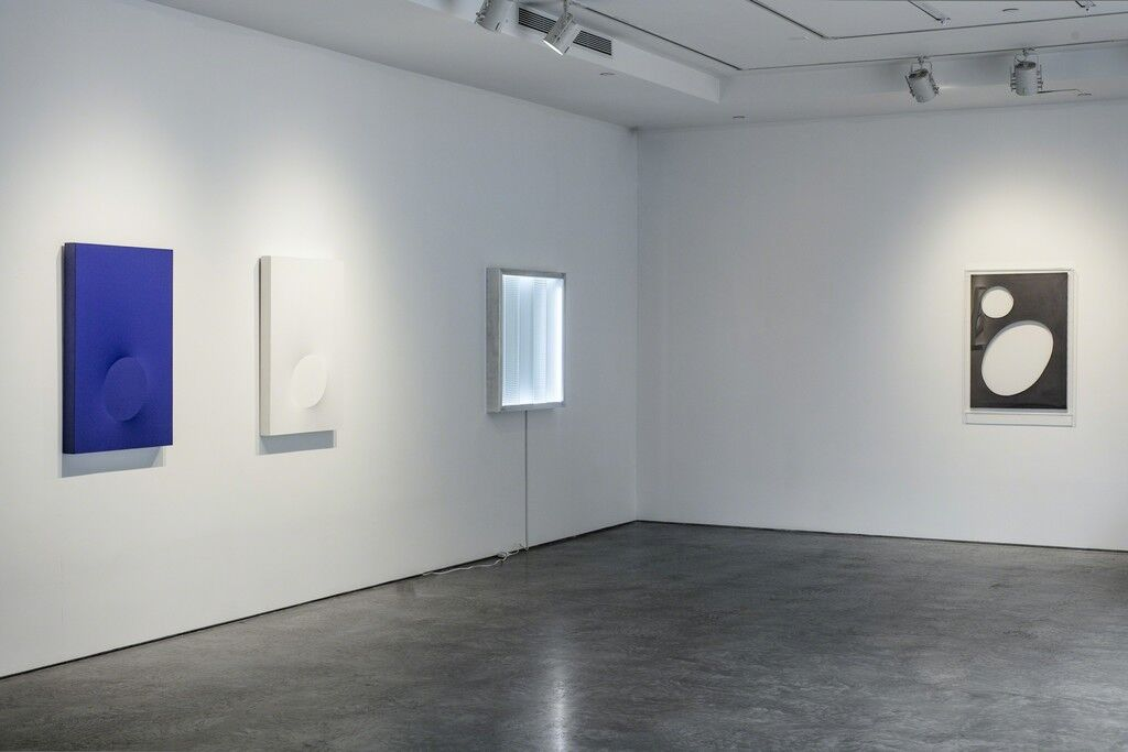 """Install shot from""""A New Visual Dialogue"""": Courtesy De Buck Gallery, New York."""