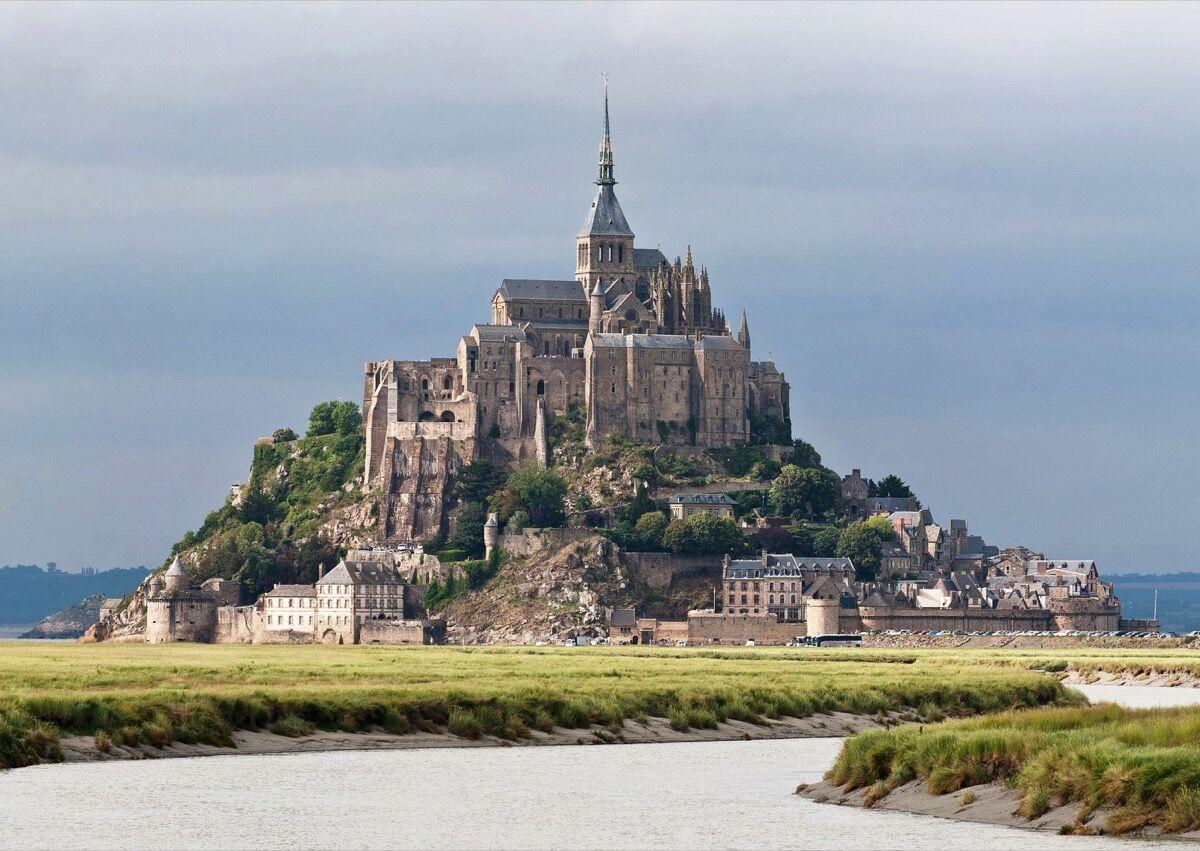 Le Mont Saint-Michel, France. Photo via Wikimedia Commons.