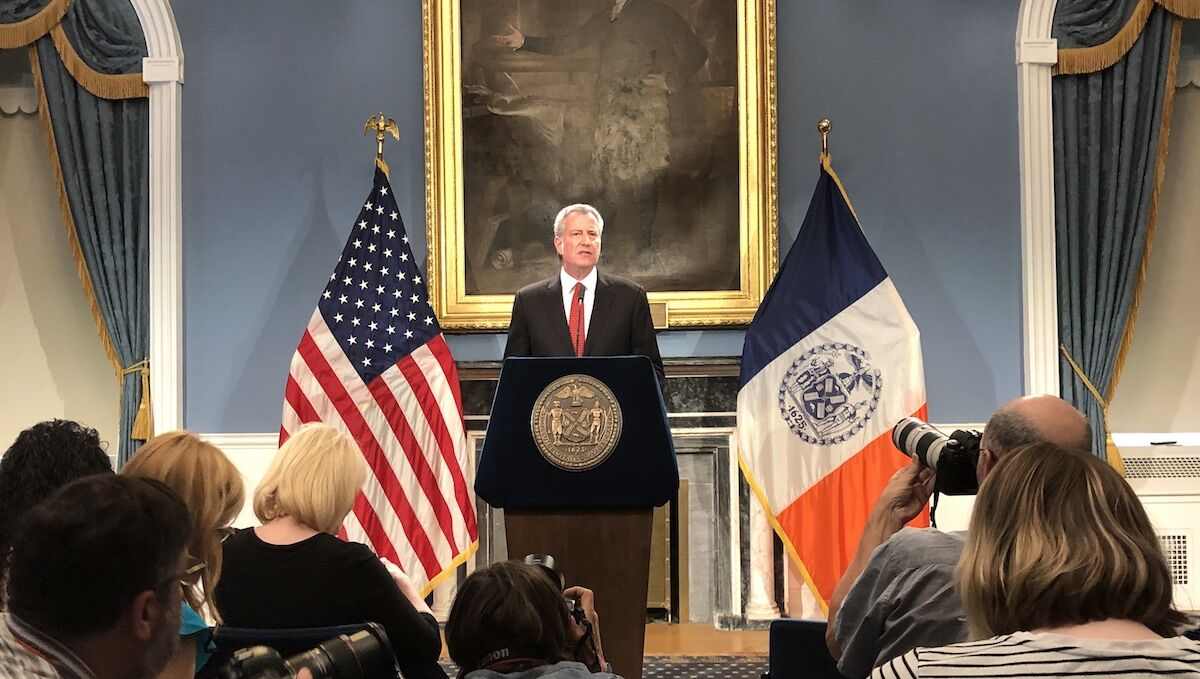 New York City Mayor Bill de Blasio. Photo by Ketlag, via Wikimedia Commons.
