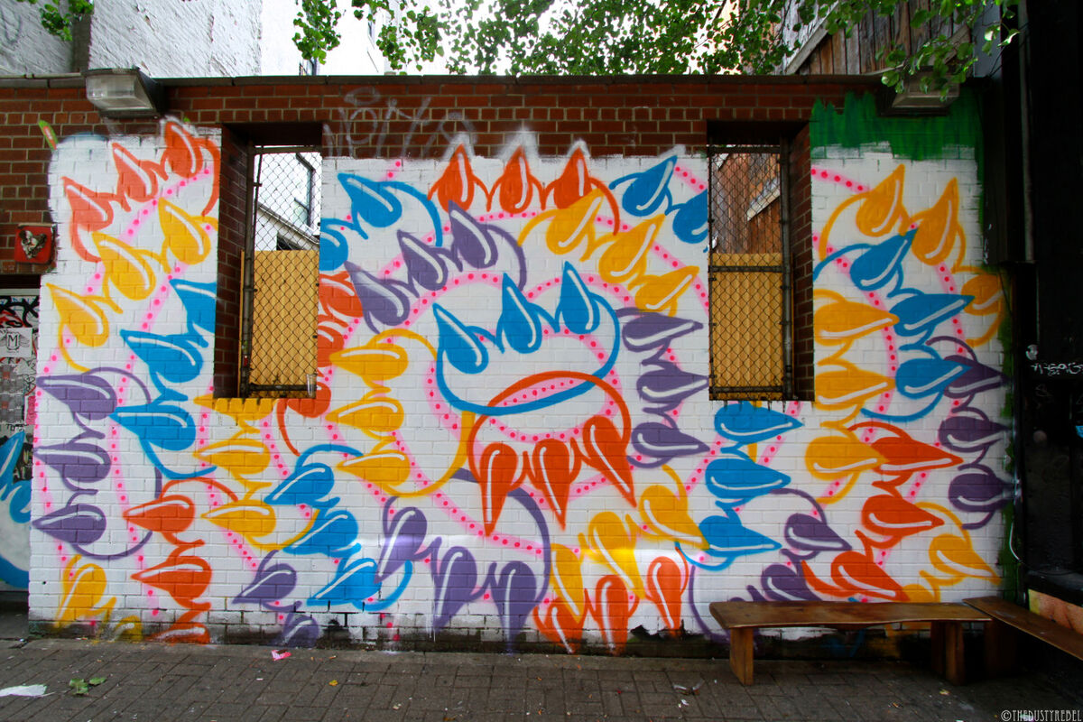 Artwork by Claw, Bust Magazine x Super Chief Gallery, 2013. Photo by Claudia Gold. Courtesy of the artist.