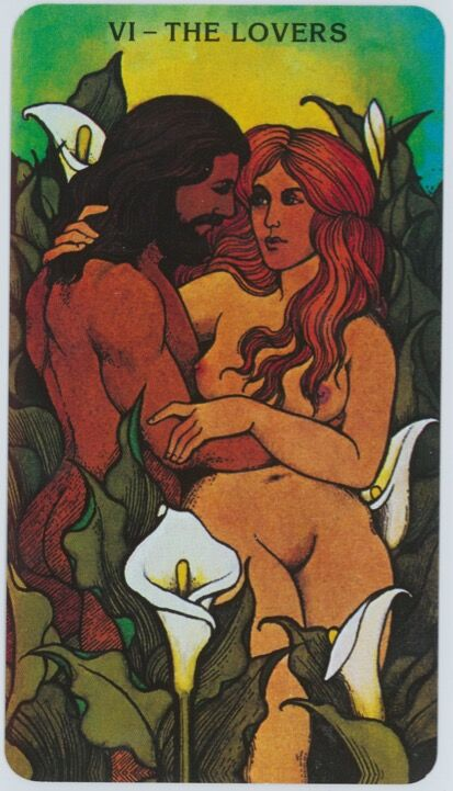 Bill Greer and Lloyd Morgan, card from Morgan-Greer Tarot, 1979.