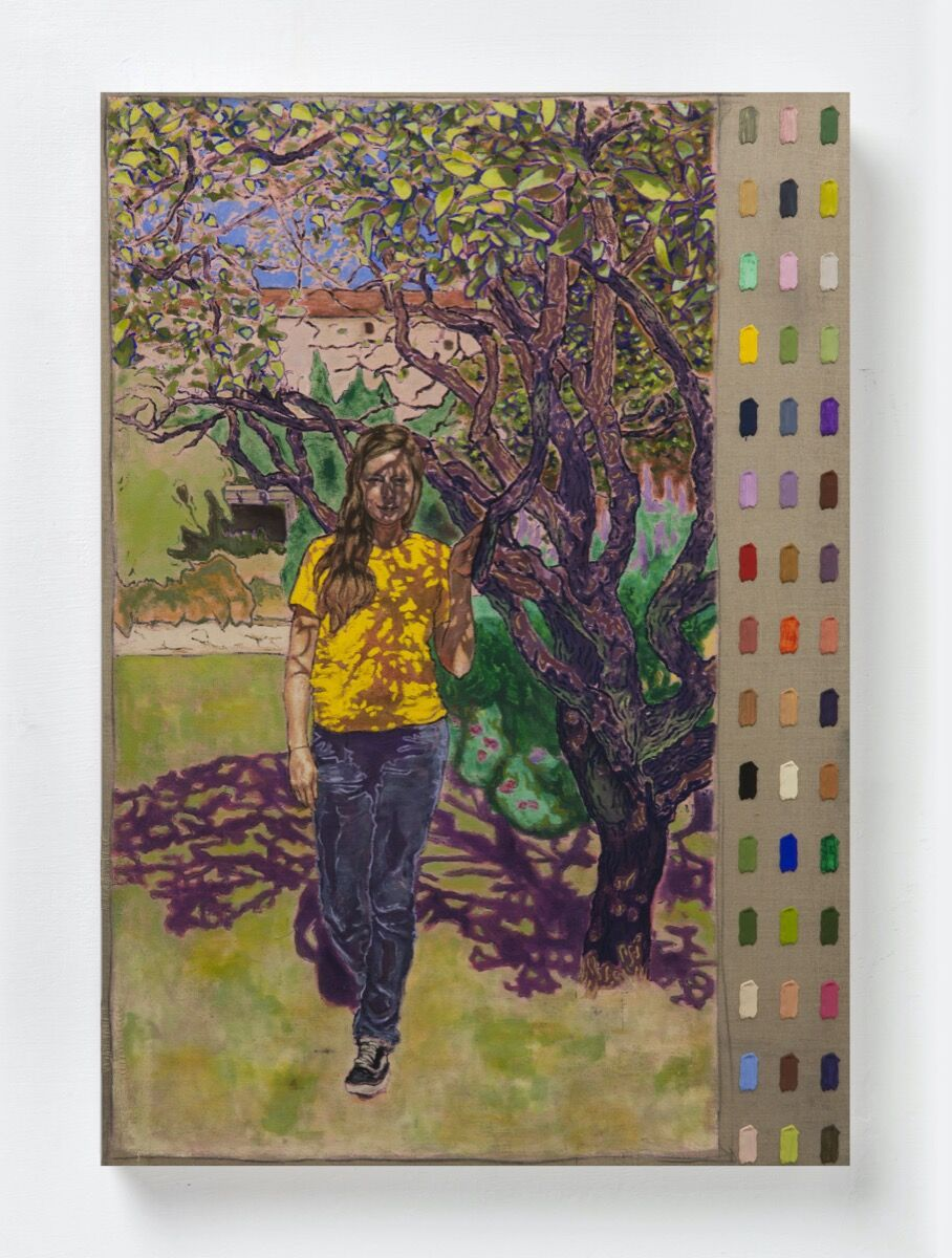 Peter Mohall, Ina dans le jardin du Monastere de Cimiez, 2020. Courtesy of the artist and Luce Gallery.