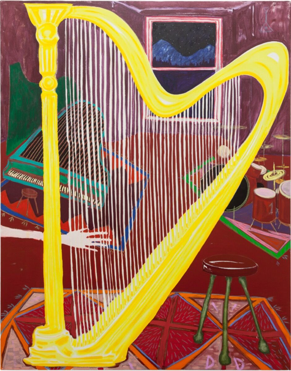 Dickon Drury, The Music Room (please don't touch the harp), 2016. Courtesy of the artist and Koppe Astner, Glasgow.
