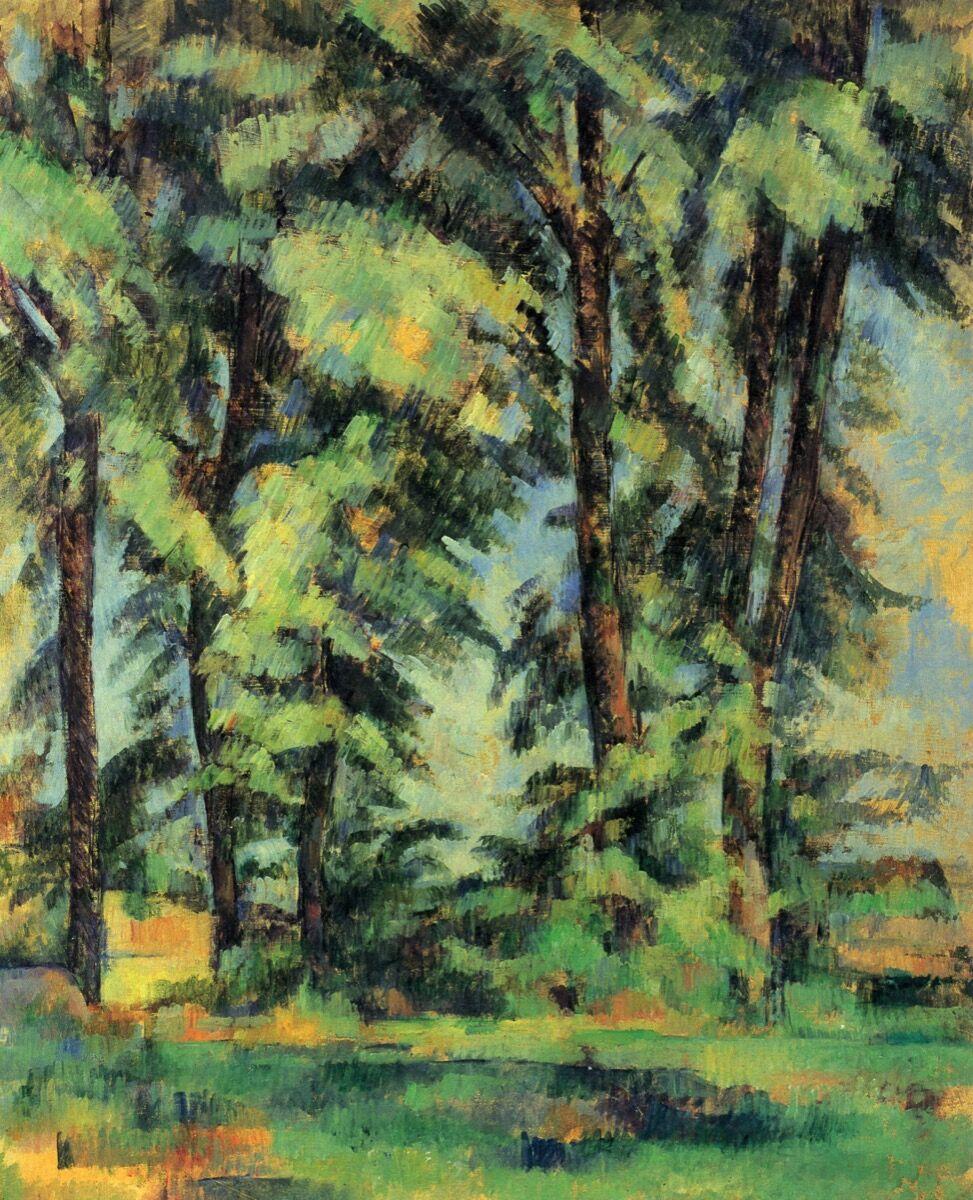 Paul Cézanne, Les Grands Arbres au Jas de Bouffan, 1885-87. Image via Wikimedia Commons.